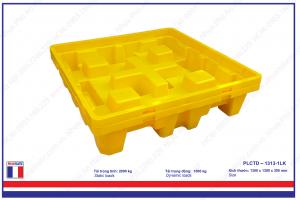 Pallet nhựa chống tràn dầu - PLCTD – 1313-1LK