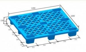 Pallet nhựa chân cốc PLC-01 XK màu xanh dương